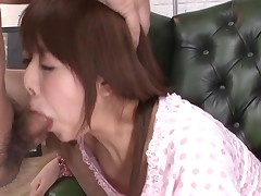 Favourable stud acquires rapturous blow job from sexy Oriental playgirl